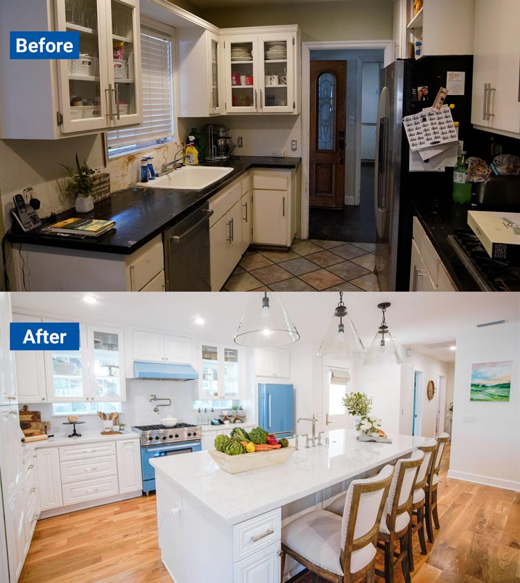 Outdated kitchen turned into a modern white kitchen