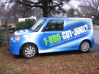 Atlanta's 1-800-GOT-JUNK? wrapped Honda Element