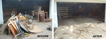 Ft Worth 1-800-GOT-JUNK? Before and after work