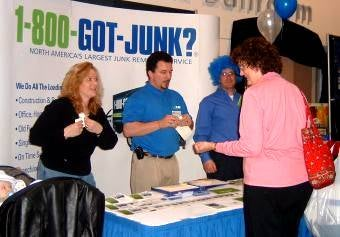 Boston North's 1-800-GOT-JUNK? team at the Boston Home Show