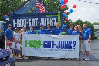 1-800-GOT-JUNK? at the Fourth of July parade in Chicago, Illinois