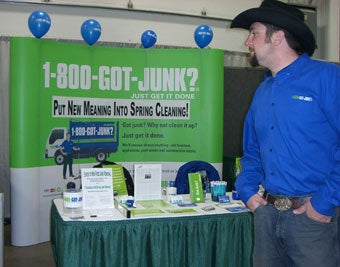 Boulder's 1-800-GOT-JUNK? team at the Greeley Home and Garden Show