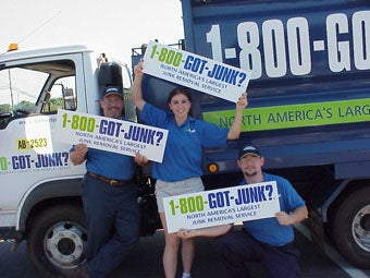 Hartford's 1-800-GOT-JUNK? junk removal team
