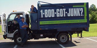 Hartford's 1-800-GOT-JUNK? trash hauling team