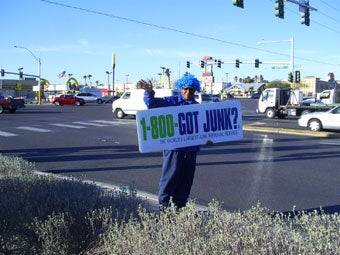Promoting our junk removal service to Las Vegas