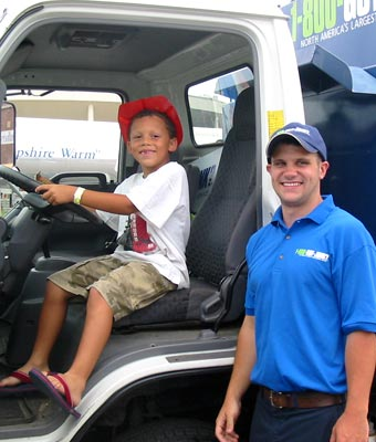 Nashua's junk hauling team at the Touch A Truck event