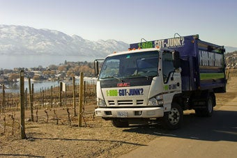 Junk Removal Truck in the Okanagan Valley