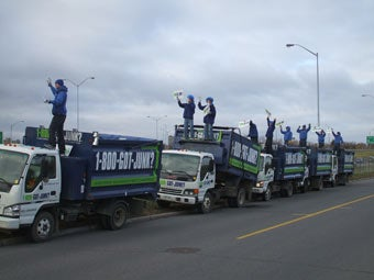Ottawa's junk hauling team marketing on their 1-800-GOT-JUNK? trucks