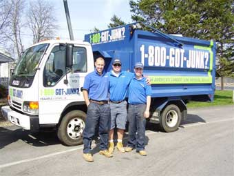 Rhode Island's 1-800-GOT-JUNK? junk truck and rubbish removal team