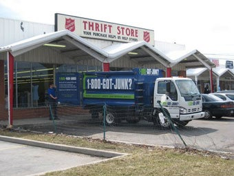 Rochester's 1-800-GOT-JUNK? franchise donates reusable items to the local Thrift Store