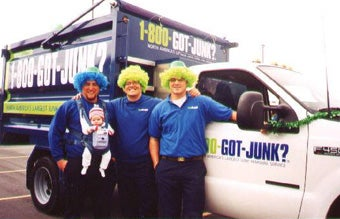 Salt Lake City's 1-800-GOT-JUNK? team at a local parade