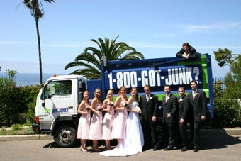 1-800-GOT-JUNK? is apart of franchise owner, Ben Hoskins, wedding day