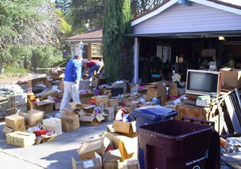 What a typical job site looks like before 1-800-GOT-JUNK? teams get to work