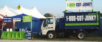 1-800-GOT-JUNK? trash removal crew at the Waukesha County Fair