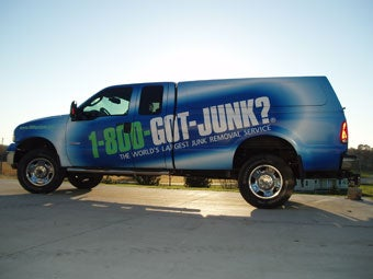 Milwaukee's 1-800-GOT-JUNK? wrapped truck