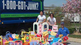 1-800-GOT-JUNK? and Liberty Property Trust Toy Drive