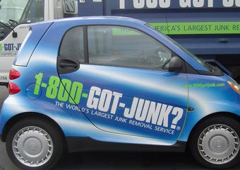 Wrapped 1-800-GOT-JUNK? smart car