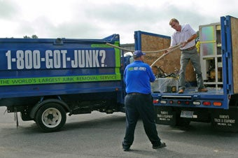 Asheville's junk hauling team recycles and donates