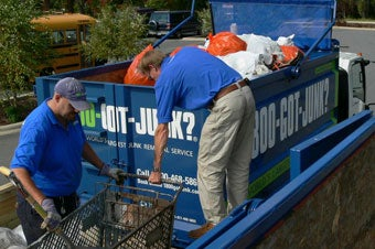Asheville's 1-800-GOT-JUNK? junk hauling team helping the Big Sweep