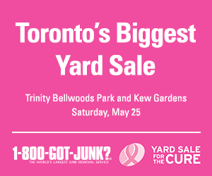 Toronto yard sale for the cure