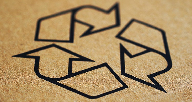 recycling code on brown surface
