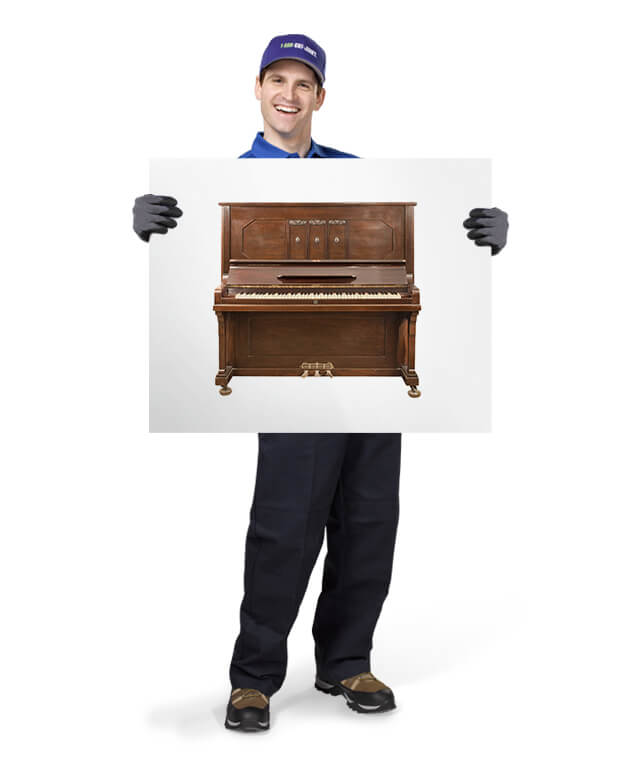 1800-GOT-JUNK TOM ready to remove your old or broken pianos
