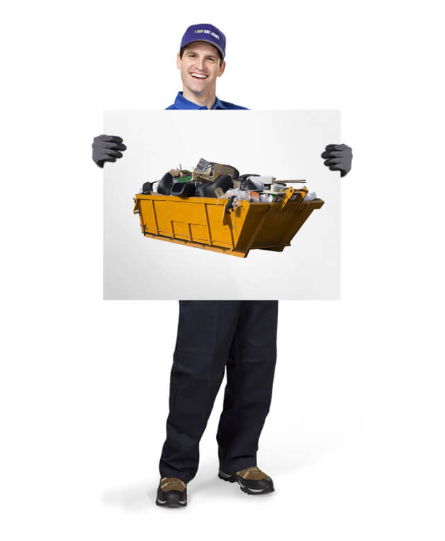 Uniformed TOM ready be your easy dumpster rental alternative