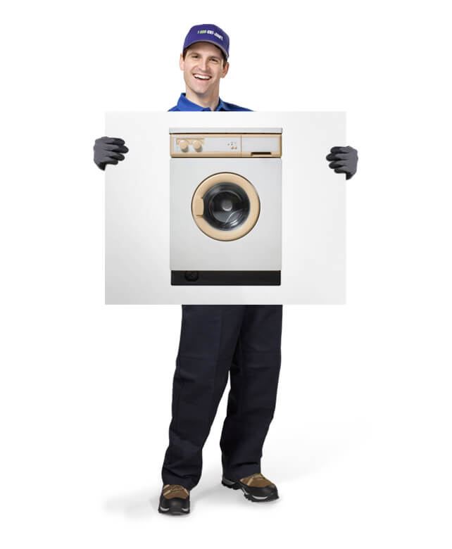 Uniformed TOM ready to remove & dispose of your old appliances