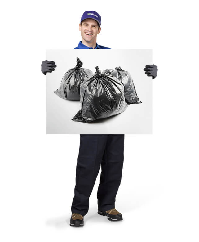 Uniformed TOM ready to remove & dispose of your household garbage and refuse
