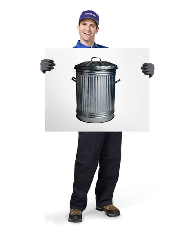 Uniformed TOM ready to remove & dispose of your household trash