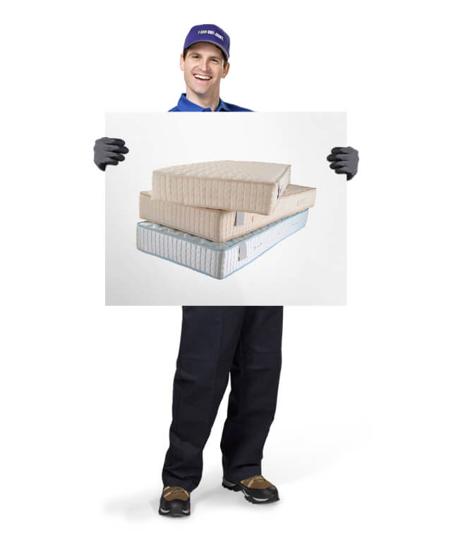 Uniformed TOM ready to remove & dispose of your old mattress or box spring