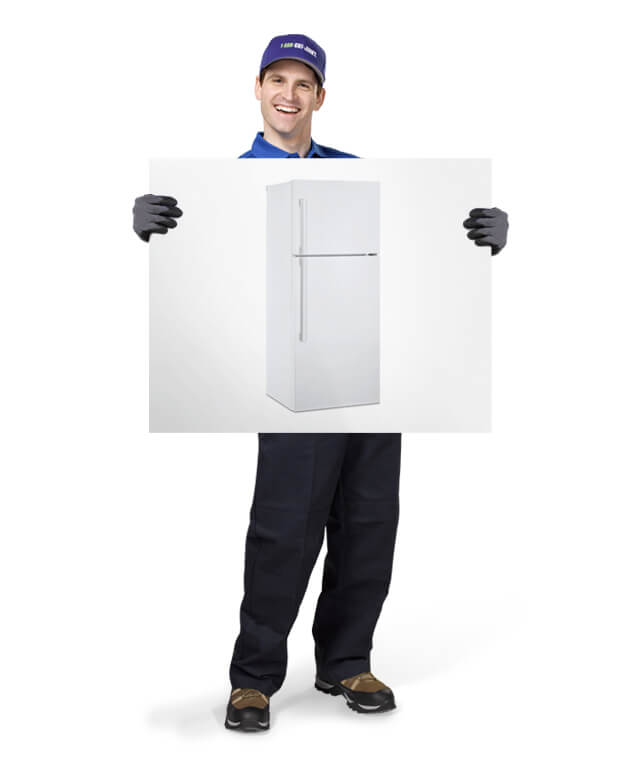 Uniformed TOM ready to remove & dispose of your old Refrigerator